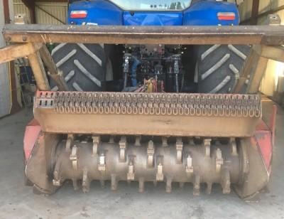 photos : Gyro broyeur sur tracteur NH